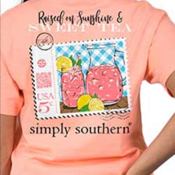 NWT Simply Southern Short Sleeve T Shirt Girls Tie Dye Eat Pineapple MEDIUM M